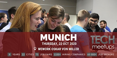 Munich Tech Job Fair Autumn 2020 by Techmeetups tickets