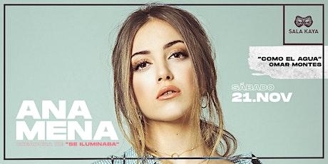 Ana Mena en concierto - Sala Kaya (Madrid) entradas