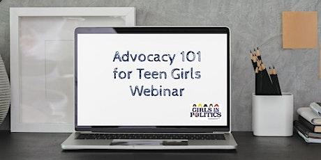 Advocacy 101 for Teen Girls Webinar  tickets