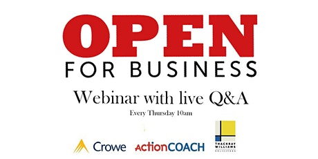 The Open for Business - Podcast tickets