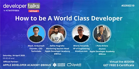 VIRTUAL DEVELOPER TALKS #19 :   How to be a World Class Developer tickets