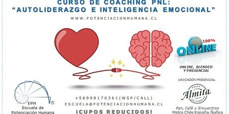 "Curso ONLINE:""Coaching PNL: Autoliderazgo e Inteligencia Emocional"", 30hrs. entradas"