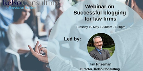 Successful blogging for law firms - May 2020 tickets