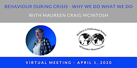 BPW April 1 VIRTUAL Meeting - Guest Speaker Maureen Craig McIntosh tickets