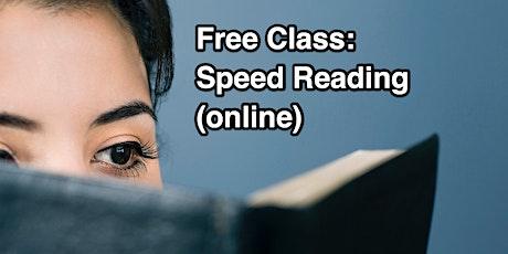 Speed Reading Class - Beijing billets