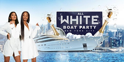 All White Hip Hop Sunset Boat Party - Midtown Yach