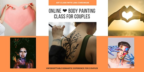 Online❤️Body Painting Class For Couples❤️Unforgettable romantic experience tickets