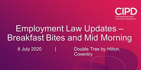 NEW DATE: Employment Law Update - Mid Morning tickets