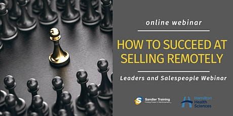 How To Succeed at Selling Remotely - Webinar tickets