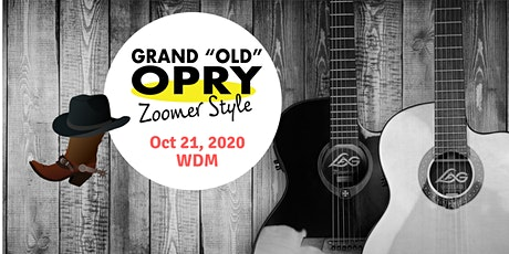 "Grand Old Opry ""Zoomer Style"" ~ A  country and western showcase tickets"