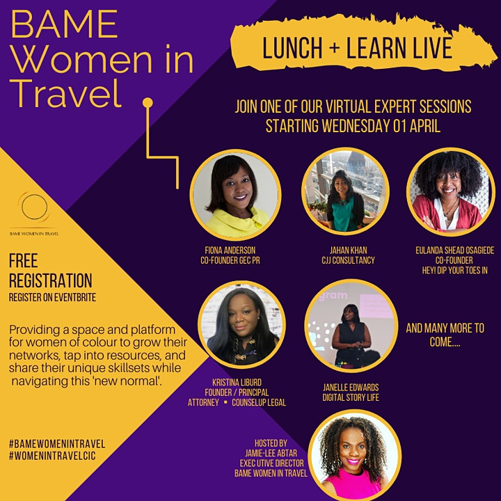BAME Women in Travel - Lunch and Learn Live image