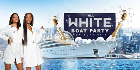 All White Hip Hop Sunset Boat Party - Friday Yacht Cruise - Midtown NYC Skyline  tickets