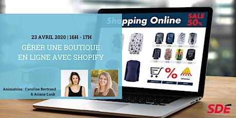 Gérer une boutique en ligne avec Shopify billets