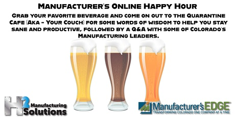 Manufacturer's Online Happy Hour 4/02 tickets