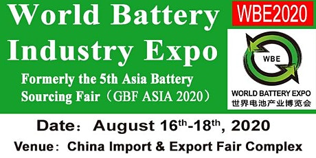 World Battery Industry Expo (WBE 2020) tickets