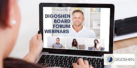 "Digoshen Board Forum Webinar ""Boards Leadership in Uncertain Times"" tickets"