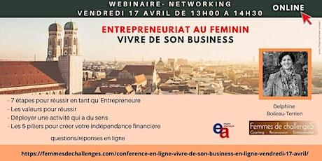 Entrepreneuriat au féminin - Vivre de son business billets