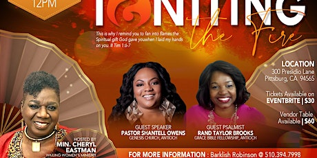 IGNITING THE FIRE  tickets