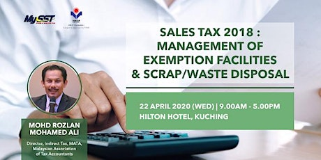 SALES TAX 2018 - Management of Exemption Facilities & Scrap/Waste Disposal tickets