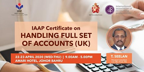 IAAP Certificate on Handling Full Set of Accounts (UK) tickets