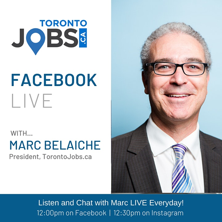 FREE Daily Job Search Webinar with Marc Belaiche, President, TorontoJobs.ca image