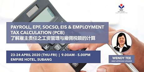 Payroll, EPF, SOCSO, EIS & Employment Tax Calculation (PCB) tickets