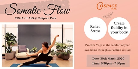 Yoga Class: Somatic Flow  (Online Session Available) tickets