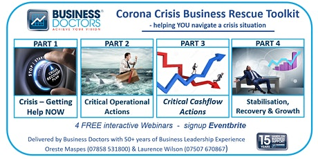 """Corona Crisis Business Rescue Toolkit-Part 3 """"Critical Operational Actions"""" tickets"""