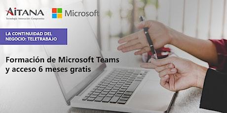 Formación de Microsoft Teams y acceso 6 Meses Gratis. bilhetes