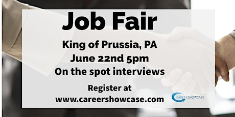 LIVE HIRING EVENT June 22, 2020 King of Prussia, PA @5pm. Many New Career Opportunities. tickets