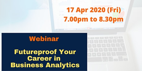 Webinar : Futureproof your career in Business Analytics tickets