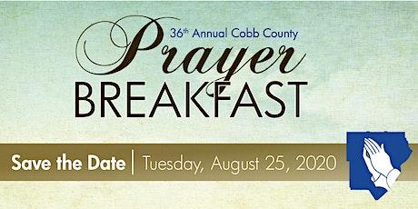 Cobb County Prayer Breakfast 2020 tickets