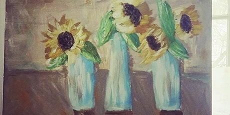 Painting with Acrylics sunflowers tickets