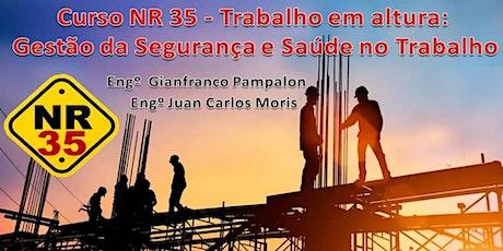 NR 35 - Trabalho em altura:  Gestão da Segurança e Saúde no Trabalho ingressos