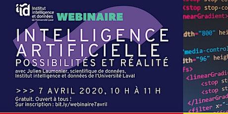 Webinaire - Intelligence artificielle, possibilités et réalité billets
