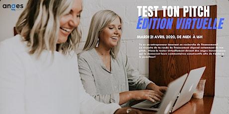 Test Ton Pitch - Édition virtuelle billets