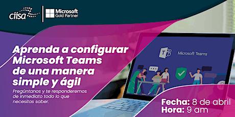 08  Abril - Como configurar Microsoft Teams bilhetes