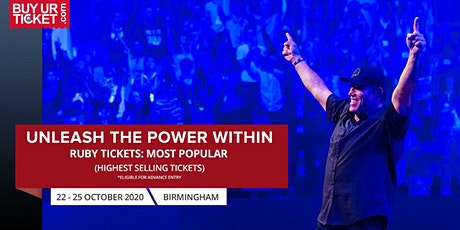Tony Robbins Live in UPW Birmingham 2020 - Buy Ruby UPW Tickets tickets