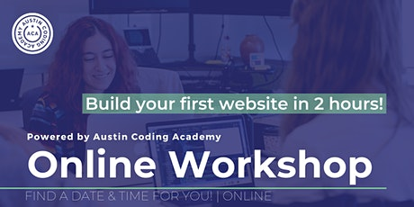 Austin Coding Academy | VIRTUAL Learn to Code Workshop tickets