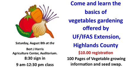 Fall Vegetable Growing Class tickets