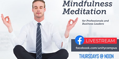Meditation Tips for Professionals & Business Leaders via Livestream tickets
