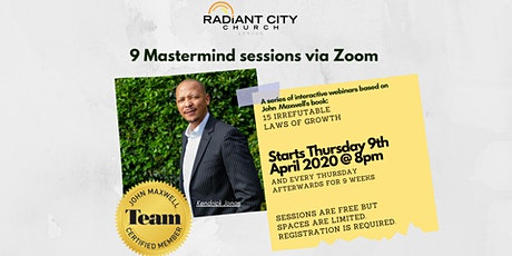 9 Mastermind sessions on growing intentionally tickets
