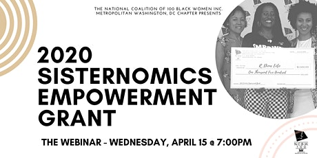 2020 Sisternomics Empowerment Grant - The Webinar tickets