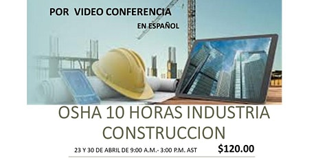 Español-OSHA 10 HORAS CONSTRUCCION tickets