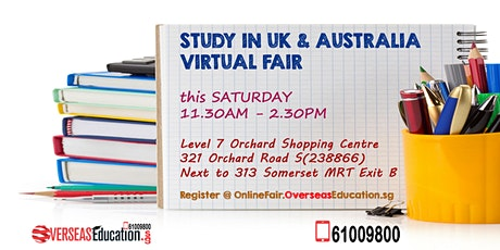 Study in UK & Australia Virtual Fair tickets