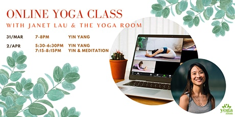 Online Yoga Class with Janet Lau and The Yoga Room tickets