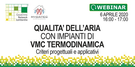 Qualità dell'aria: criteri progettuali e applicativi con VMC termodinamica biglietti