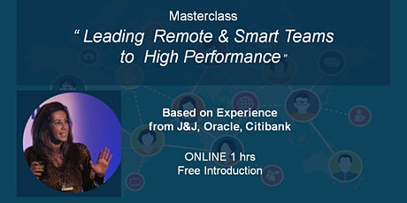 Leading  Remote & Smart Teams  to  High Performance - Toronto tickets