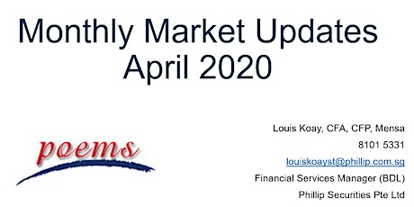 [Investment] Monthly Market Updates - April  2020 tickets