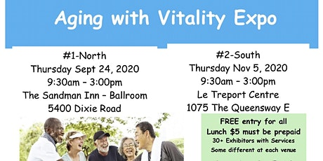 Carp Mississauga's Seniors' Health Expo —  Aging with Vitality  tickets